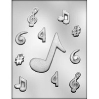 "Music Notes 2"" & 4"" Choc Mould"