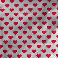 Red Hearts 7.5 cm² Confectionery Foil