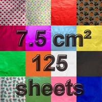 7.5 cm Square Confectionery Foil 125 Sheets