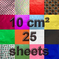 10 cm Square Confectionery Foil 25 Sheets