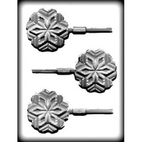 Snowflake on Stick Hard Candy Mould