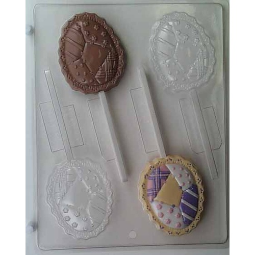 Patchwork Egg on Stick Mould