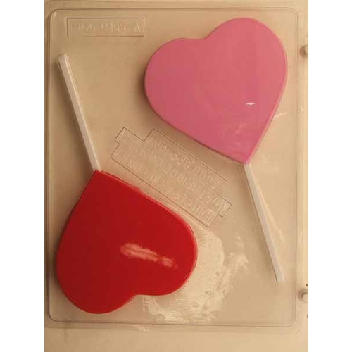 Large Heart on Stick Mould