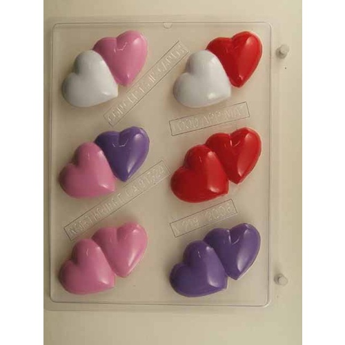 Double Heart Chocolate Mould