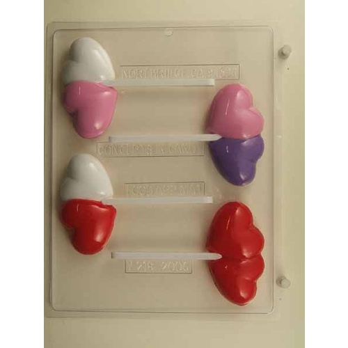 Double Heart on Stick Mould
