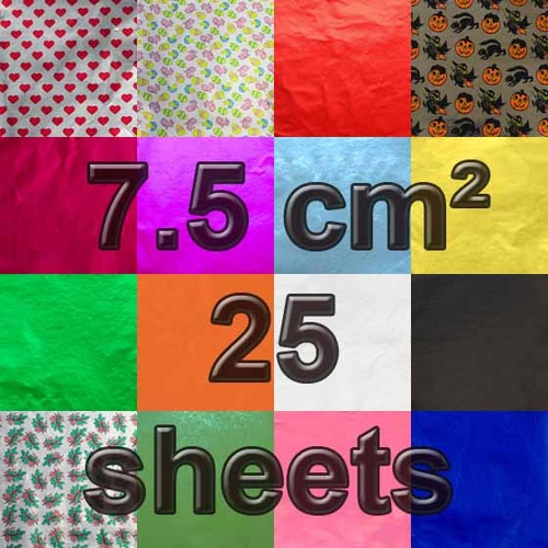 7.5 cm Square Confectionery Foil 25 Sheets